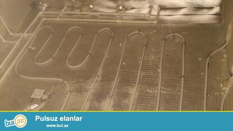Istilik  sistemlerinin kombi, radiator, isti polun standartlar seviyyesinde qurasdirilmasi...