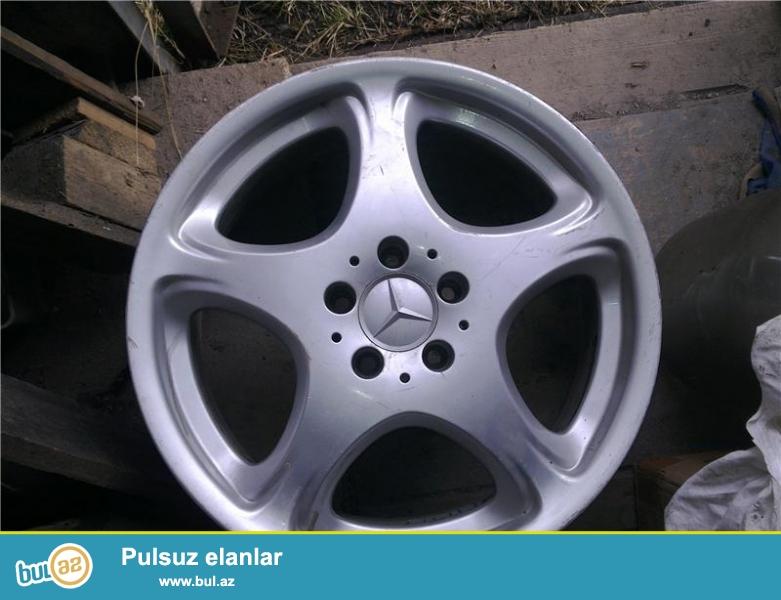 "Mercedes w220 kuzasina aid orijinal R18 4 eded diski ve 4 eded cox az islenmiw(800km) 245-45-18 olcude ""Montana""(Indoneziya) tekerleri satilir..."