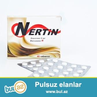 <br /> Nertin- dirnaqlarin qirilmasi ve saclarin tokulmesine qarsi vasite<br />  Biotin – suda hell olan B qrup vitaminlere aiddir...