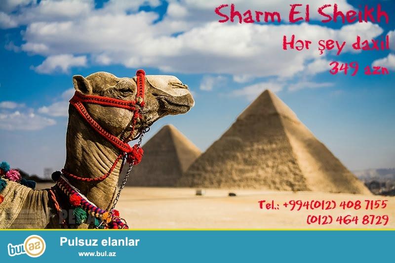MİSİR !!! SHARM EL SHEİKH !!!<br /> Luna Sharm Hotel 3* - 349 azn <br /> Verginia Sharm Hotel 4* - 369 azn <br /> Domina Coral Bay Oasis Garden 5* - 439 azn <br /> 13...