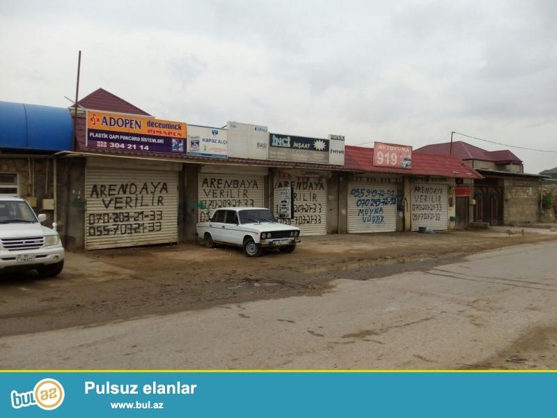 "ARENDAYA OBYEKTLER VERILIR ...Bakı ş, (SovXoz) Ramana (Zabrat aeroportuna yaxın, ""Orxan"" kafesinin yanı, 163 Nö-li marşrut düz qarşısından keçir) yol kənarında yeni tikilidi..."