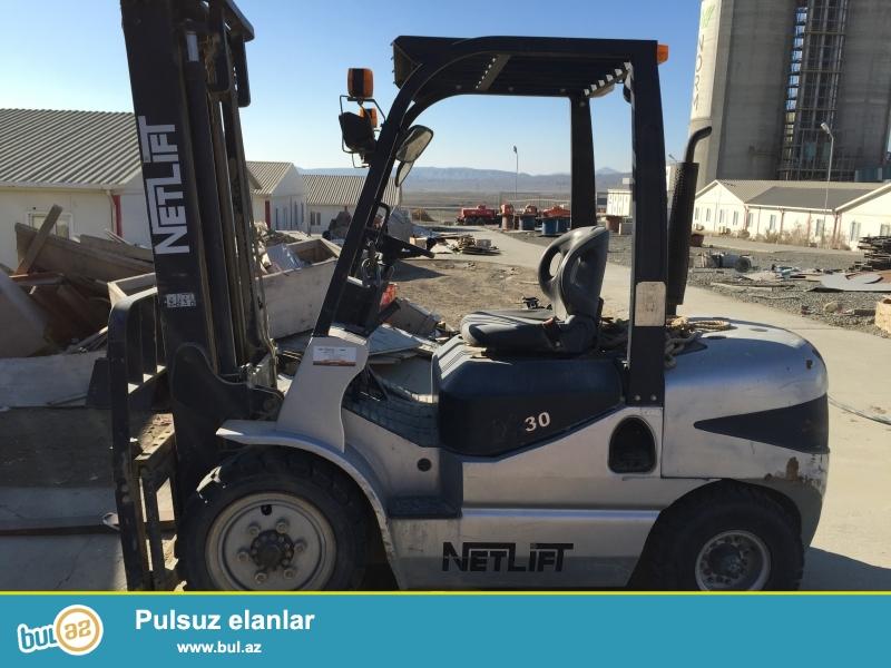 Ishlenmish, Netlift Forklift, 3500kq-ı qaldırır, yanacaq disel, qiyməti-16000 Azn.