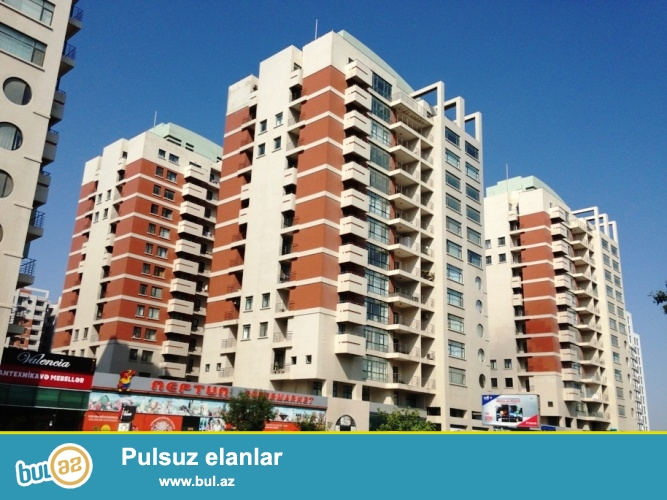 Новостройка! Cдается 3-х комнатная квартира в центре города, в Ясамальском районе, по проспекту Тбилиси, над «Neptun» маркетом, в престижном комплексе  «Ишыг МТК»...