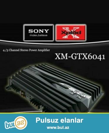 Maşın üçün səs gücləndirici.(Усилитель)<br /> Sony XPlod XM-GTX6041 / 600WATT...