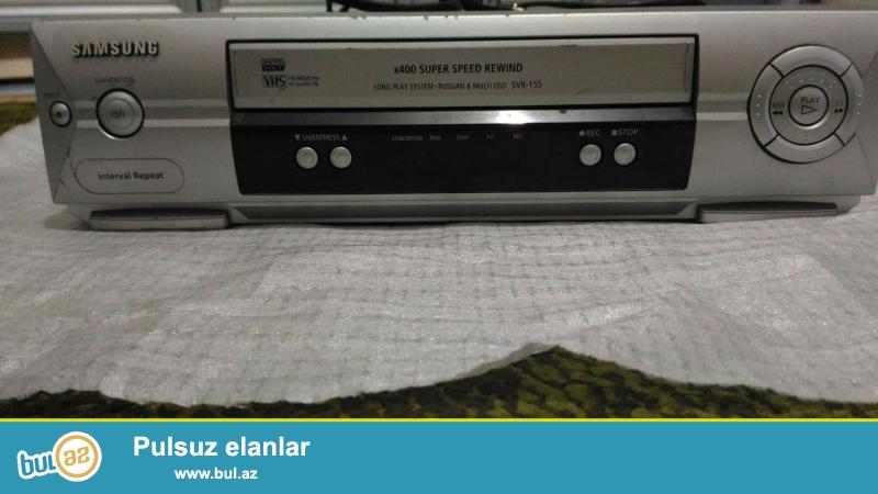 Video magnitafon Işlək vəziyyətdədir. Samsung VHS real alıcıya aşağı qiymət də mümkündür...