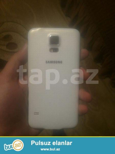 Samsung s5 silver 16gb 16 camera + nauwnik + adapter wekilde ozunundu gorduyunuz kimi saz vezyetedi barter mukudu qiymet 250 whatsapp 0516505429