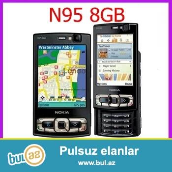 Nokia N95 orjinal,təzə.rəngi-qara.