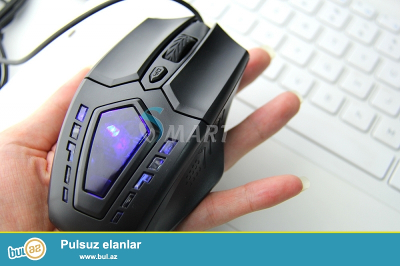 Oyun həvəskarları üçün çox funksional rahat 6D 2400DPI (DPI arttıkça mousun hassasiyeti artar ve daha detaylı hareket eder) Gamer mouse,Adi magazada olan mouslar 800 1600DPI dir ve buda oyunda pis nisan almaq titremelere sebeb olur...