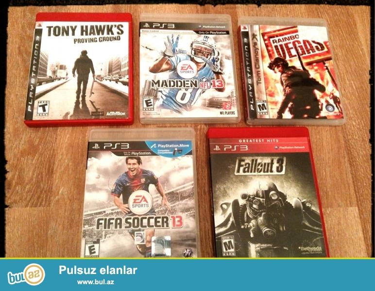 Playsatation 3 ucun 5 maraqli oyun cemi 50azn , tek tek almaq istiyen qiymeti 20 azndi ...