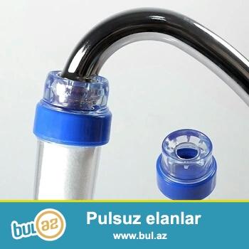 Su filtrləri 16 mm. kran , (mətbəx və hamam) içməli suyun təmizlənməsi üçün , üstündə -5 ədəd əlavə filtr(katrijləri) vardır.