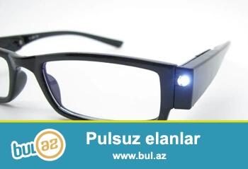 Очки со светодиодом для электриков для ремонтников мастеров для чтение в ночное время    Диоптрий +1.