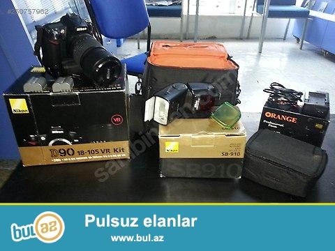 Təcili satılır. Nikon D90 + SB 910 Visishka Cəmi 650 AZN...