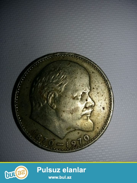 1870-1970 üzərində Leninin şəkli olan qəpik satilir .