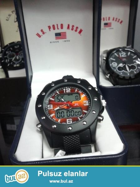 U.S.Polo Assn.Orginal amerika saatları,çox funksiyalı,10-5atm suya davamlı yeni modellerimiz...