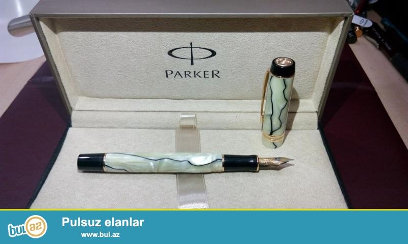Fransa istehsalı olan qızıl Parker qələmlər və perolar ...