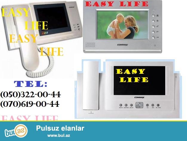 Domafon sistemleri; EASY LIFE sirketi her novde ve modeled en muasir domafon tehlukesizlik sistemlerinin satisini ve qurasdirilmasini teklif edir...