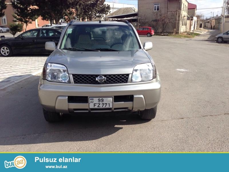 Marka: Nissan<br /> Model: X-trail<br /> Mühərrikin həcmi: 2000sm³<br /> Kuzov növü: Sedan<br /> Buraxılış ili: 2001<br /> Yürüşü, km: 150000