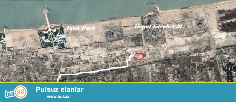 Fatmayi baglarinda,Fovqalada Hallar Nazirliyinin istirahet merkezinin ve Heyat  Ailevi Istrahet kompleksinin yerlesdiyi erazide, denizden 500 m mesafede yerlesen 3 sot torpaq sahesi satilir...