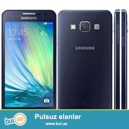 Samsung Galaxy A 3 satilir qara reng tezedi karopkadadi 1 il qizil qarantisi var qiymetde razilashmaq olar