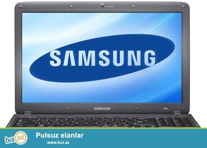 Model Samsung R525<br />  Prosessor AMD 2.2 GHz<br />  Ram 3 GB<br />  Hdd 320 GB<br />  Vga Ati Mobilty Radeon 512 Mb<br />  Üstündə Sumka Adapter Və Mişqa Verilir<br />  Narmal Vəziyyətdədir Zaryatqa Saxlayır