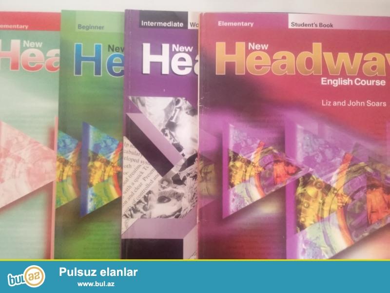 Muxtelif seviyyeler uzre headway kitablari satilir heresi 5 azne