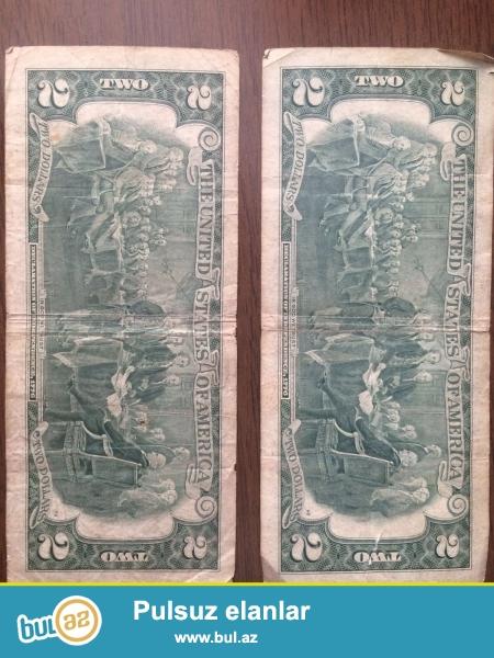 """1976-cı ilin """"2 dollar"""" əskinazı satılır..Ciddi şəxslər narahat etsin..."""