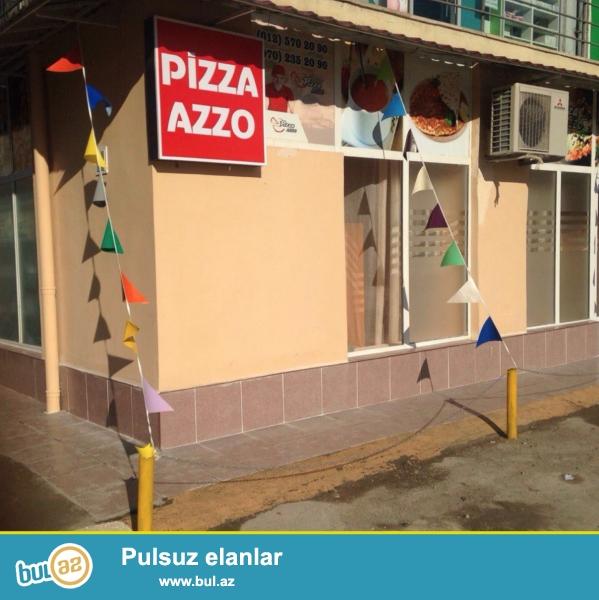 Xetai rayonunda obyekt satilir, 56 kv.m, kupça var, remontlu kafe + avadanliqlarla bir yerde verilir.