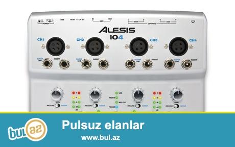 Alesis firmasina mexusus io2 Express modeli Yeni . Diger Alesis firmasinin diger modelleri ile maraqlanmaq isteyirsinizse elaqe saxlayin ve ya dukanlarimiza yaxinlasin<br /> <br /> Tel: 050 226 07 90 / 055 316 07 90 / 012 408 24 23