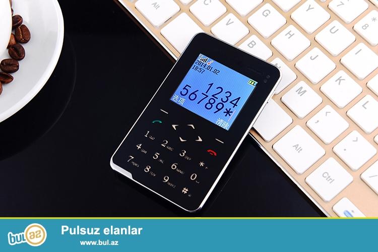 Yeni sensor klaviaturali kredi karti boyda telefon...