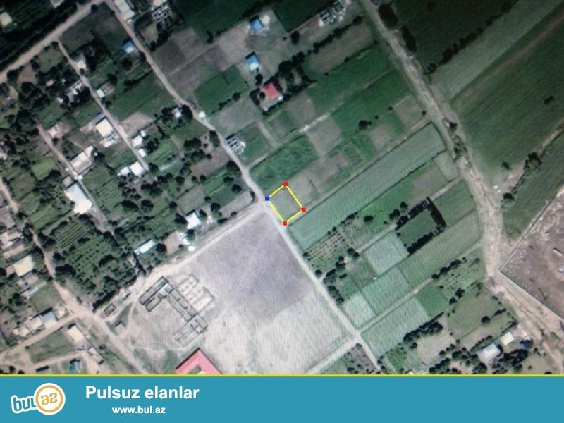 Ağstafa rayon Yenigün kəndi orta məktəbin yanında 7sot torpaq sahəsi...