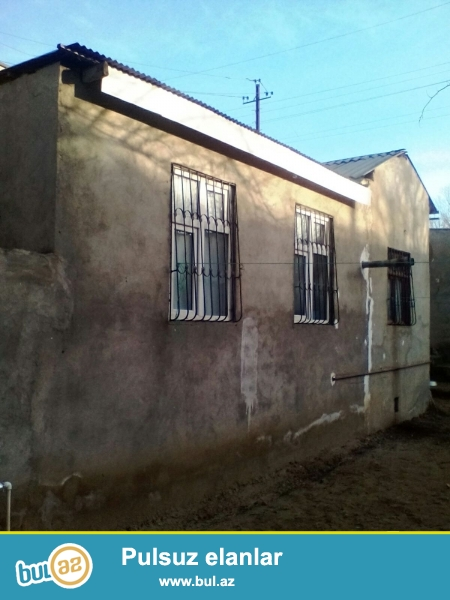 xirdalanda 2 sotda, 2 otaqli temirli, heyet evi satilir...
