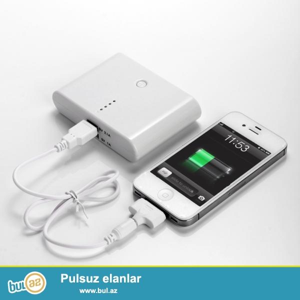 Yeni.BÜTÜN MODEL TELEFONLAR ÜÇÜN.<br /> Çatdırılma pulsuz<br /> <br /> Yüksək güclü 12000mAh USB Power Bank  iPhone/iPod/iPad mobile telefonlar üçün Universal adaptöd<br /> <br /> Xüsusiyyətləri:<br /> <br /> Features:<br /> 1...