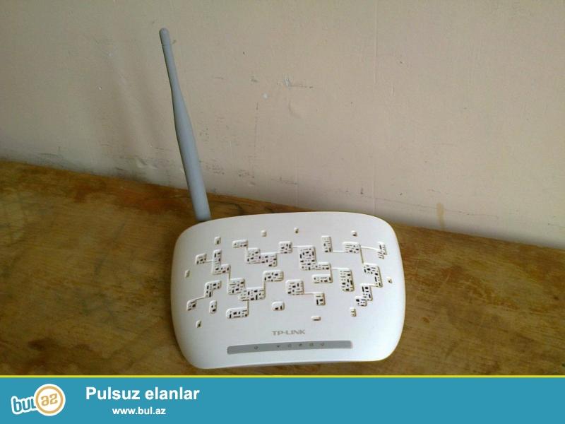Wi-fi modem TP-LINK, 150 Mbps3 Wireles N ADSL2+. 3 ay işlətmişəm, əla vəziyyətdədi...