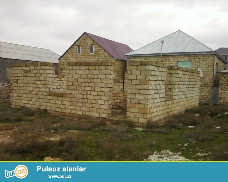 Abseron rayonu Digah qesebesinde merkeze yaxin yolun kenarinda 6 sot torpaq ve icinde 9x9 yarimtikili satilir...