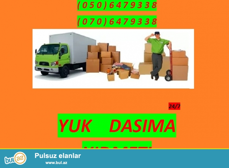 """Təcili ve guvənli yuk dasima xidmeti   butun Bakinin ərazisinde  ve   Azerbaycanin rayonlara  da bu xidmetin \""""əli çatir\""""..."""