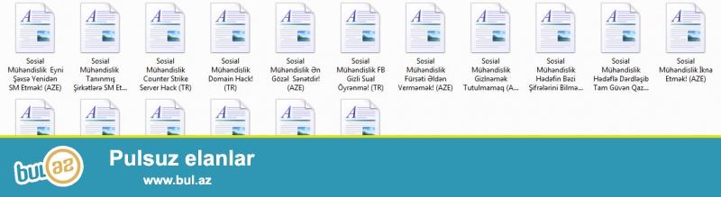 Sosial Muhendislik Kitabi Tam Ozume Aiddir!<br /> <br /> https://www...
