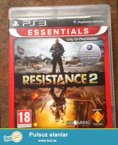 Ps3 ucunun oriqinal resistance 2 oyunu.yenidir