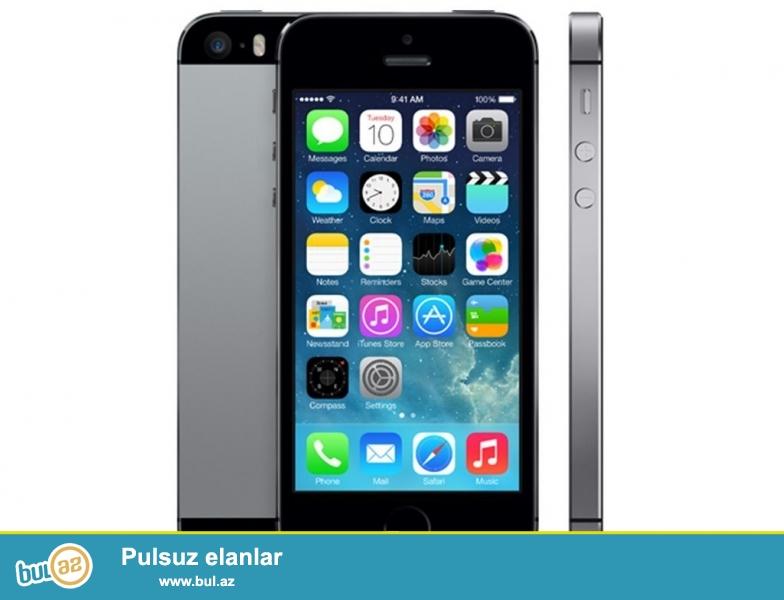 Iphone 5s 16gb space gray. Ideal veziyyetdedi, cizigi, eziyi ve hec bir problemi yoxdur...