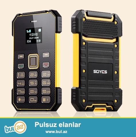 Yeni.Çatdırılma pulsuz<br /> Soyes Rengli ekran kredi kartl boyda telefon<br /> <br /> Telefon qeydiyyat olub: Bəli<br /> Xüsusiyyətlər: FM Radio, MP3 Playback, Bluetooth, yaddaş kartı yuvası, tozkeçirməyən, Mesa<br /> Vəziyyəti: Yeni<br /> Dil: İngilis, Rus, Alman, Fransız, İspan, Portuqaliya, İtaliya, istədiyiniz dil bizə deyin<br /> Ölçü: 88 * 55 * 5...