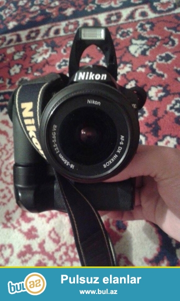 Nikon ... pol profsenal fotaparatdi ...usdunde cantasi qrip ve 2 gb kart verirem fotoparat satilir ...