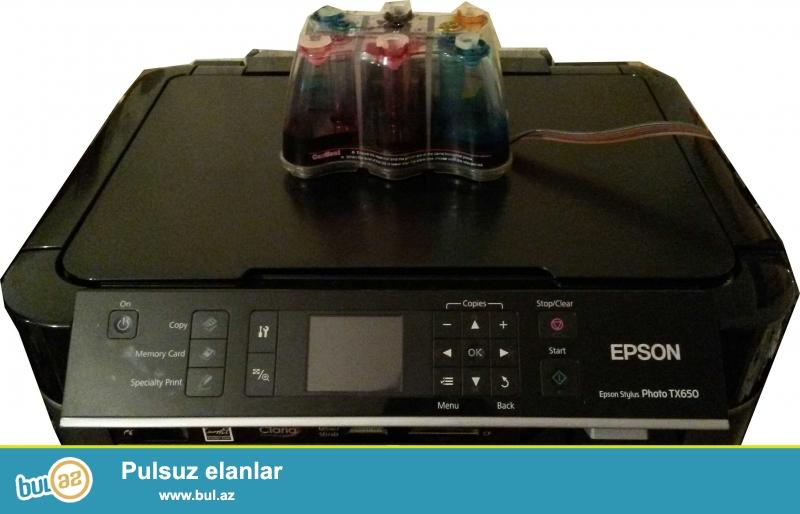 Epson TX650 model printer satılır. İşlənmişdir...