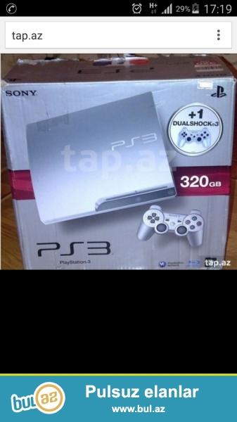 Playstation3 320Gb YENI. 2 cozik.