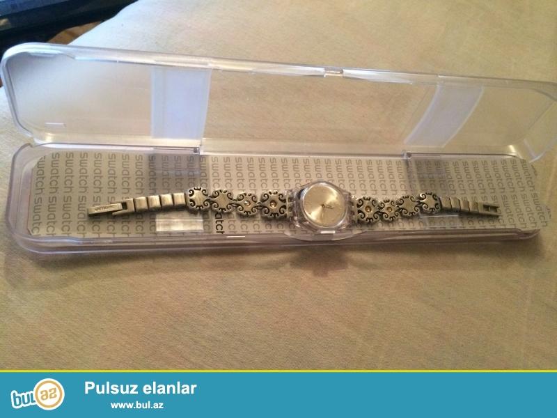 Swatch saat satilir.istifade olunmayib.