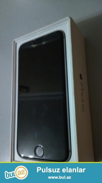 iPhone 6 (Space Gray) SUPER İdeal vəziyyətdə. Full komplekt, hər bir şeyi təzə kimi üstündə korobkası və aksesuarları...