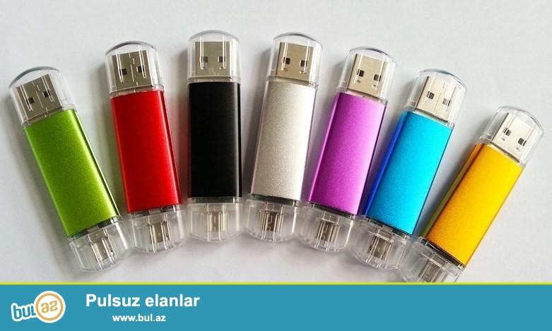 Yeni.Çatdırılma pulsuz<br /> <br /> 16 Gb Telefon və kompüter üçün fleşkart iksi birində<br /> Paketə daxildir:<br /> 1x USB fleşkart