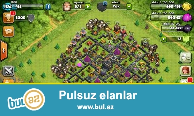 Clash  of clans satiram 9 seviye koy 102  level