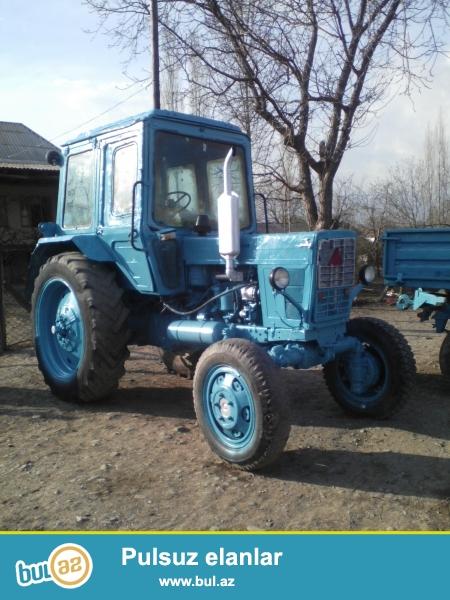 Traktor Mtz-82<br /> İli 1989<br /> Üzərində lafet,kotan və mala işlək olub saz vəziyyətdədir. Traktorun özünün də motor sistemi yeni ehtiyat hissələri ilə yığılıb tam dözümlüdür.