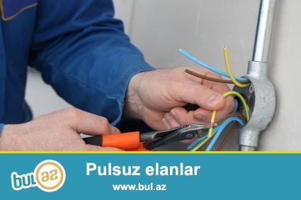 Butun nov elektrik iwleri,pewekar ustalarimiz terefinden gorulur,24saat xidmetinizdeyik