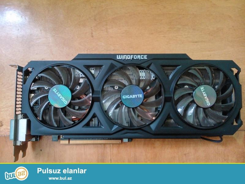 GIGABYTE Radeon R9 270X 2gb 256bit.cox az iwlenib hec 1 ay yoxdu...