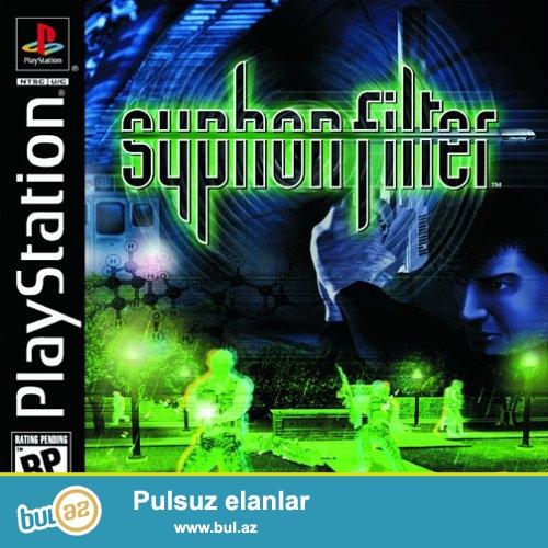 Playstation 1 oyun diski 3 in 1<br /> Syphon Filter<br /> Syphon Filter 2<br /> Syphon Filter 3<br />